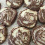 マーブルクッキー作り