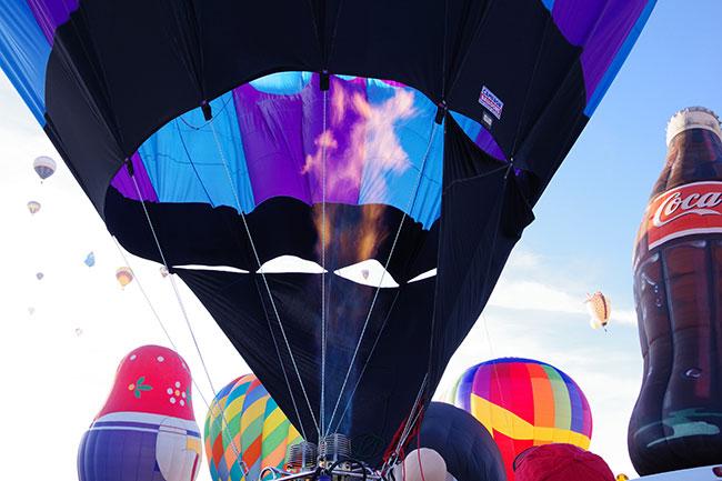 気球のそばは暖かい