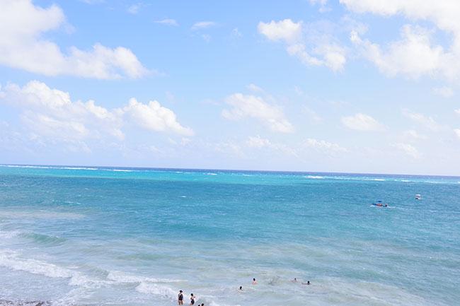 海は荒かった