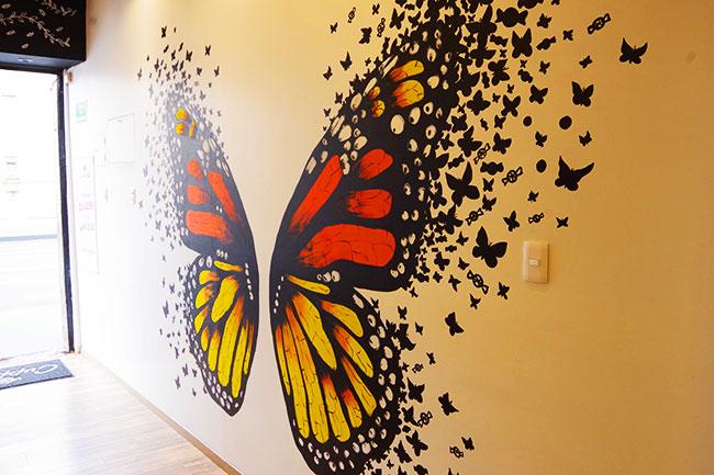モナルカ蝶の壁画